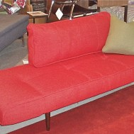 Zeal daybed/love seat.    Orange or light blue or grey fabric. $849 or floor model at $729
