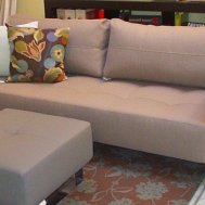 """Cassius"" deluxe lounger queen sleeper sofa in light grey classic. $2499 floor model $1995."