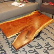 Black Acacia slab coffee table. $1249