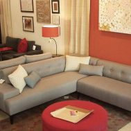 """Basalto sectional 90"""" x 90"""" sectional in Scan flannel. Priced from $2900"""