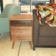 Small side table or nightstand in walnut $750