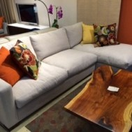"Dublin all feather/down sectional $2495.  102""W x 60"""