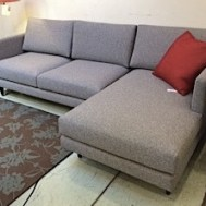 "Focus One Home #1622 sectional 96""L x 56""W x 34""D Oxford Mist.  Floor model $2940"