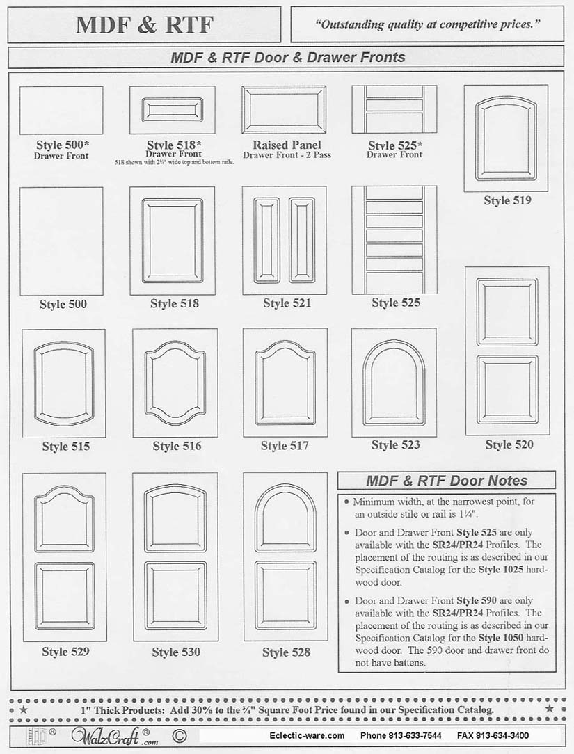 rtf cabinet doors buy kitchen cabinet doors WalzCraft Industries RTF rigid thermal foil cabinet doors