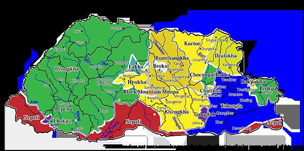 bhutan_language_map