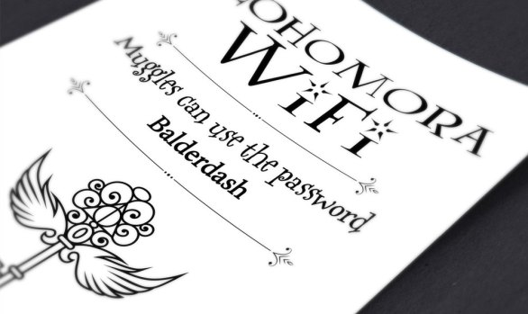 Alohomora Wifi Internet Password Print: Editable Instant Download