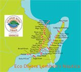 Lembeh Strait - Dive Sites' Map