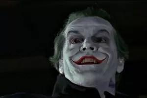 Jack Nicholson nella parte del Joker