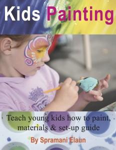 Kids Painting Art Book, Spramani Elaun art lessons children