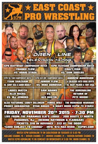 ECPW Adrenaline Paramus NJ November 20th 2015 72