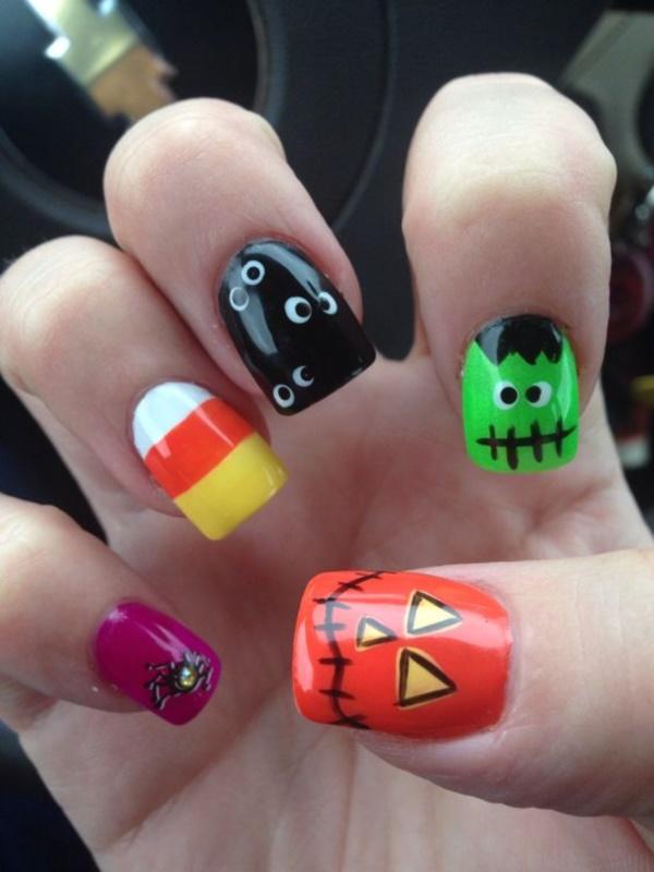 creative cartoon inspired nail