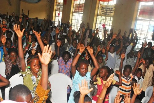 3. A cross Section of about 500 children at CEE-HOPE's annual party for children from impoverished communities across Lagos and Ogun State on Jan. 4, 2015 in Lagos