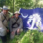 Rob Keck and Curtis Wright at the 150th Anniversary of the battle for Gettysburg in Penn.