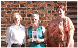 New Members of the Old 96 District Chapter, National Society Daughters of the American Revolution:  Lynn Adams Melton, Mary Lake Watson and Kelly Hagens-Swart