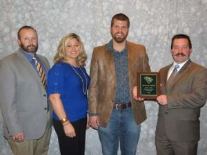 Jeremy Brooks, Agricultural Educator, Darla Steele, Agricultural Educator, Michael Steele, SC Young Farmer Agribusinessman of Year,  & Jason Creamer, ArborOne Farm Credit.