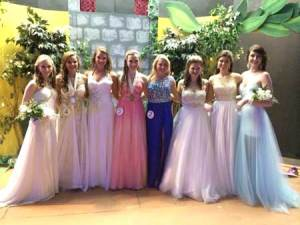 Kalei Bowser, South Edgefield County's Distinguished Young Woman 2014, Nicole Jackson, North Edgefield County's Distinguished Young Woman, 2015, Courtnie Coon, Morgan Bookstaver, South Edgefield County's Distinguished Young Woman, 2015, Taylor Murrell, Lauren Caines, Parker Wilkes, Lauren Williams, North Edgefield County's Distinguished Young Woman 2014.
