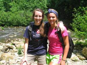 Pictured from left to right Jessica Gibson (counselor) and Leigh Northrop (camper)