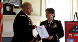 COL Cheryl A. Elliott-Dawe and COL(R) Paul Kondrat.