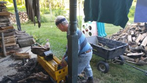 Jeff and His Electric Log Splitter