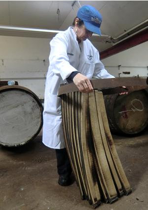 Making whisky barrels
