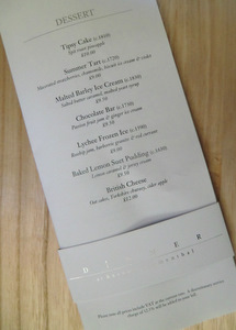 Dinner by Heston Blumenthal Menu