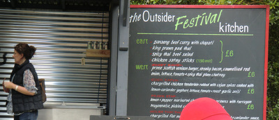 The Outsider's menu offers food from west and east.