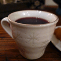 It's not tiny cup, seen close up.