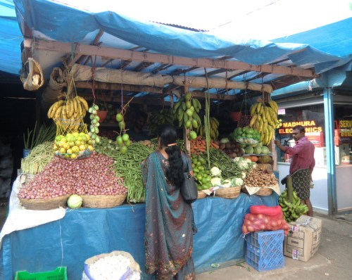 A market in Kerala