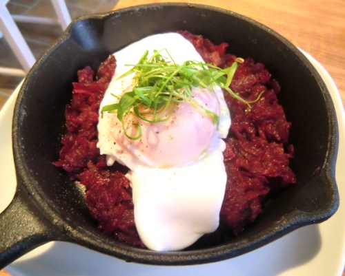 Duck Egg & Beetroot Hash