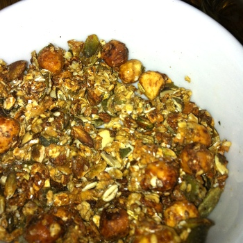 Bee larvae granola