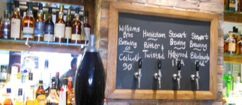 Local beers at Scran and Scallie