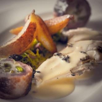Poulet en vessie - the finished dish