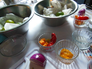 Ingredients for the ceviche