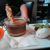 The chocolate and caramel pot of legend at The Magnum.