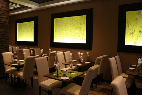 Elegant and comfortable: Vinyasa offers a warm welcome.