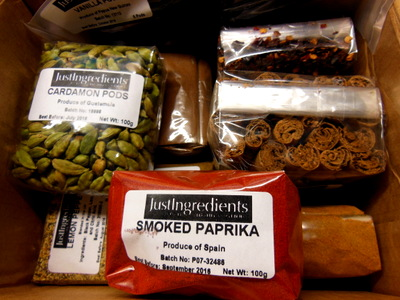 A box full of delights - spice from Just Ingredients