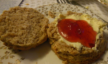 Cinnamon and apple scone