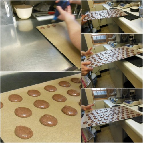 Put mixture into a piping bag and pipe equal sides circles of mixture