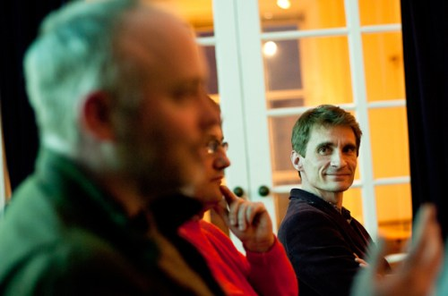 Craig Sandle and Vincent Guerin at the launch of Budding Chefs. Photo by Albie Clark
