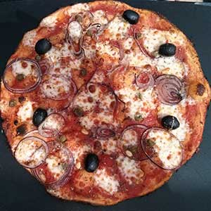 Pizza Venetiana, perfectly sized for lunch. Pizza Express, Edinburgh.