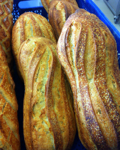 Baguettes with sourdough starter added