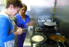 Learning how to make chapatis at Punjabi Junction