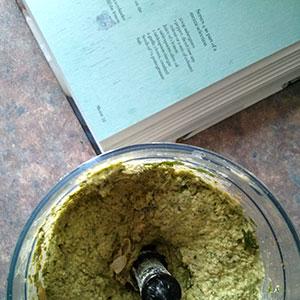 Coriander hummus - vibrant colour and flavour. Cairo Kitchen