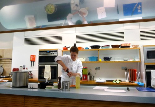The demonstration kitchen at Edinburgh New Town Cookery School