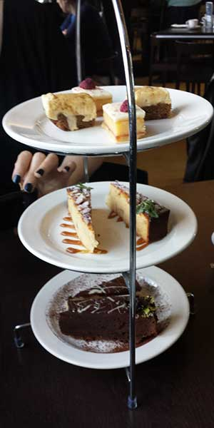 The amazing tower of cake. Yeah, we probably didn't need even half a dessert.
