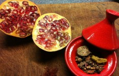 Some of the spice include in ras-el-hanout spice mix, pomegranate