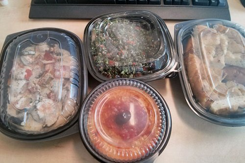 Deliveroo delivers lunch from, among other great restaurants, Meze Meze.