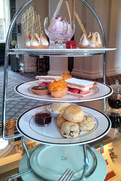 A tower of delicious treats. Where to start? Colonnades, Edinburgh