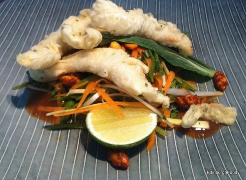 Tempura sole with Vietnamese Salad