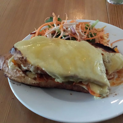 Croque Madame. Filling? Oh yes.